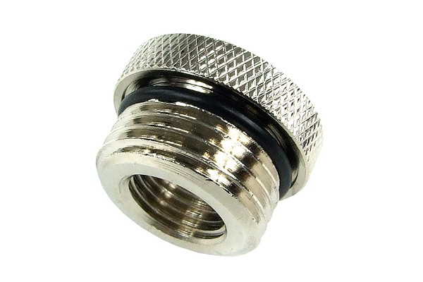 reducing socket G1/4 to G1/2 outside thread - knurled and O-Ring