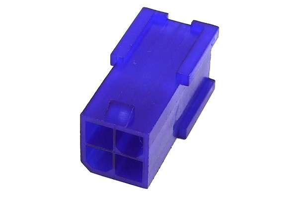 mod/smart ATX Power Connector 4Pin socket - UV-reactive purple
