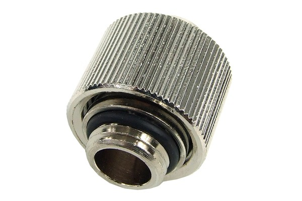 """16/11mm compression fitting straight G1/4"""" - compact - silver nickel"""