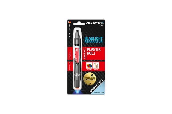 BLUFIXX Light curing repair gel - Complete Kit for Plastic & Wood