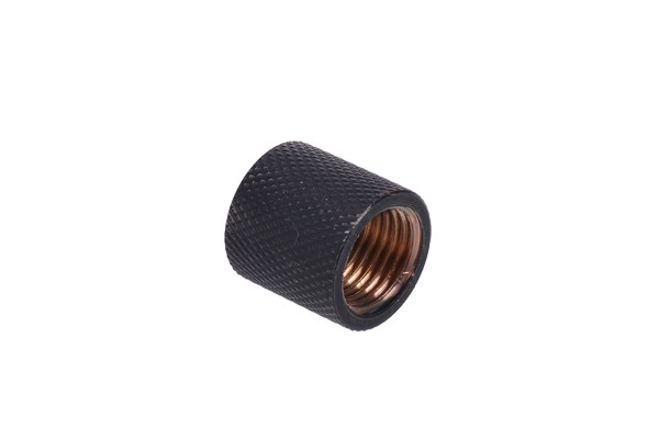 Bushing G1/4 to G1/4 - knurled - matte black