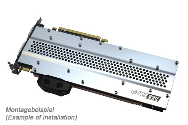Watercool HEATKILLER® GPU backplate GTX 690