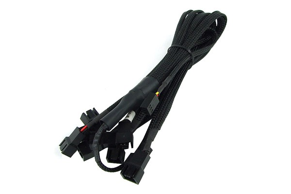 Y-Cable 3Pin Molex to 9x 3Pin Molex 60cm - black