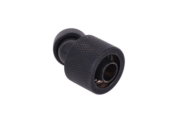 16/10mm compression fitting 45° revolvable G1/4 - knurled - matte black