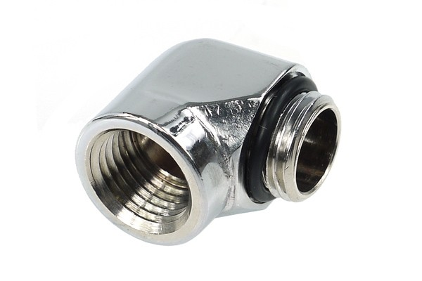 Alphacool L-connector G1/4 outer thread to G1/4 inner thread - chrome