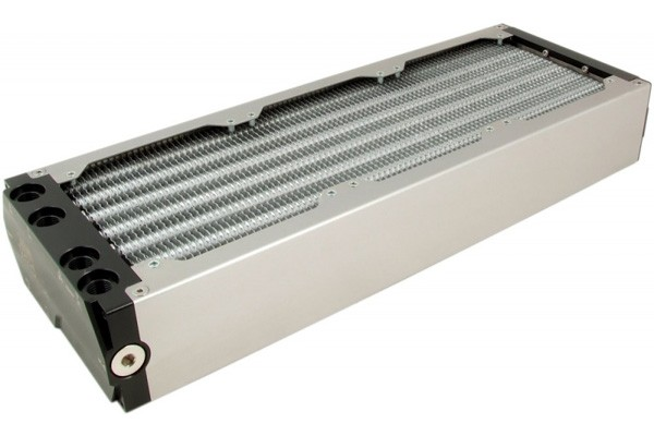 Aquacomputer airplex modularity system 360 mm, aluminum fins, two circuits, stainless steel side panels