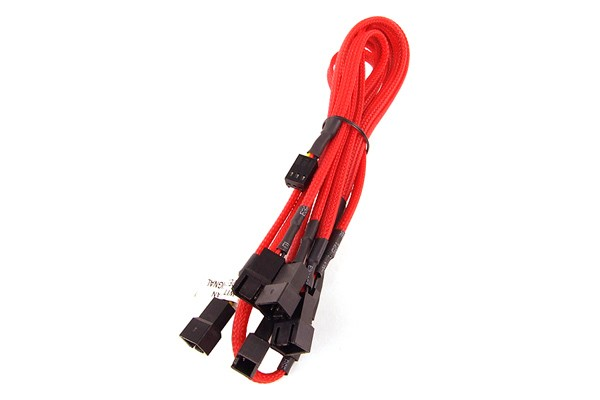 Y-Cable 3Pin Molex to 6x 3Pin Molex 60cm - UV red