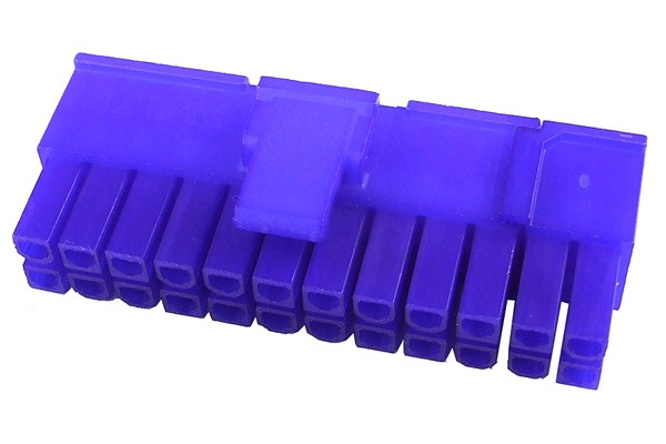 mod/smart ATX Power Connector 20+4Pin plug - UV-reactive purple