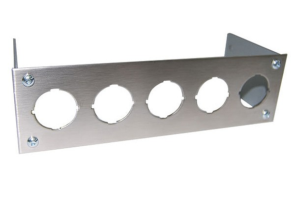 Phobya Front plate for 5x rocking switches roand – stainless steel