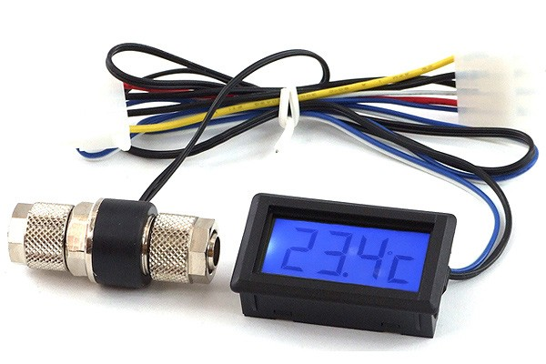 temperature sensor In-Line 10/8mm and 11/8mm with Display (blue)