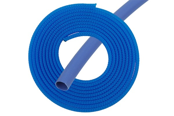 "Phobya Simple Sleeve Kit 6mm (1/4"") UV blue 2m incl. Heatshrink 30cm"