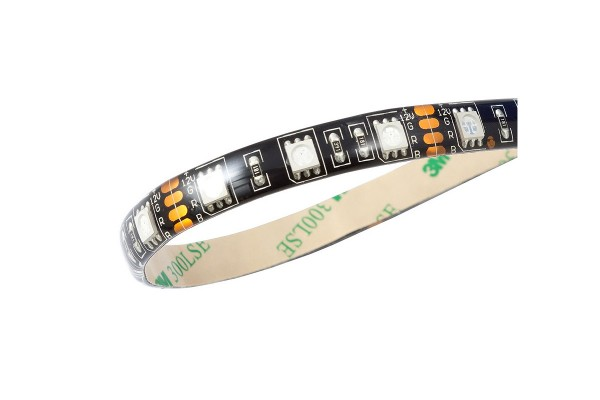 Aquacomputer RGB LED strip, IP65, black, length 100cm