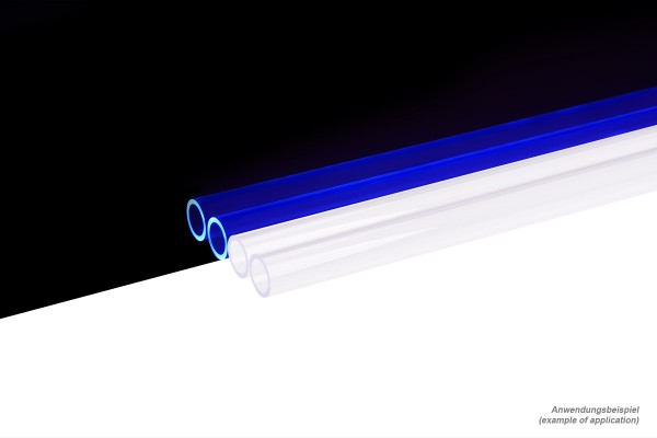 Alphacool HardTube 13/10mm plexi clear UV-Blue 20cm - 4pcs