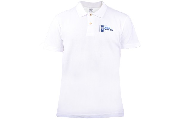 Aquatuning Men Polo-Shirt blue with logo (www.aquatuning.com) size M