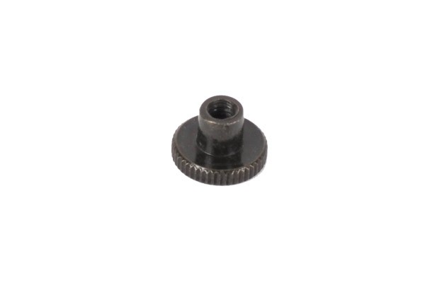 Knurled nut DIN 466 high shape M4 black nickel