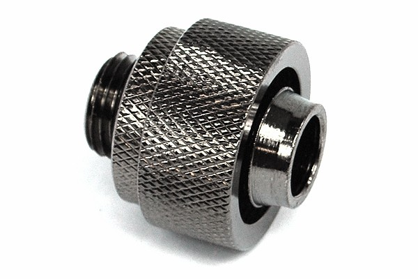 19/13mm compression fitting straight G1/4' black nickel plated