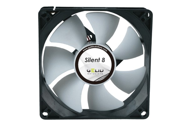 GELID Low Noise fan-1600 RPM 18 dBA ( 80x80x25mm )