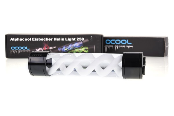 Alphacool Eisbecher Helix Light 250mm reservoir - black/white