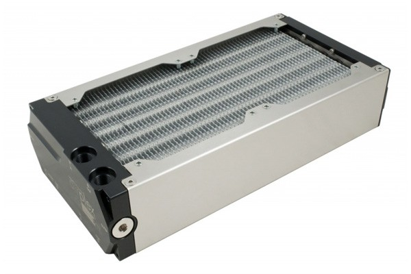Aquacomputer airplex modularity system 240 mm, aluminum fins, one circuit, stainless steel side panels