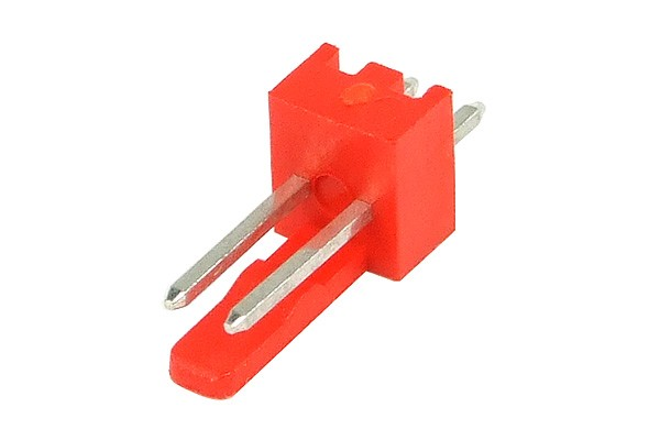 mod/smart Fan Power Connector 2Pin plug - UV-reactive red