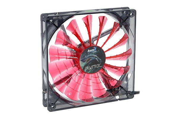 Aerocool Shark Fan Devil Red edition - transparent black – red LED (140x140x25mm)
