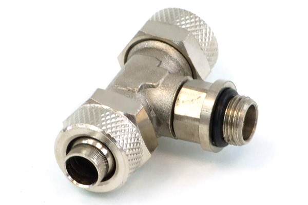 10/8mm (8x1mm) compression fitting G1/8 - T - revolvable
