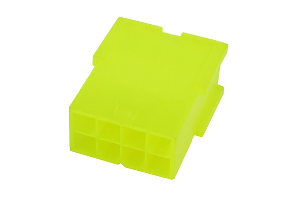 mod/smart ATX Power Connector 8Pin socket - UV-reactive brite green