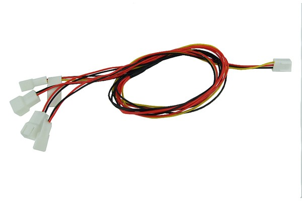 Y-cable 3Pin Molex to 4x 3Pin