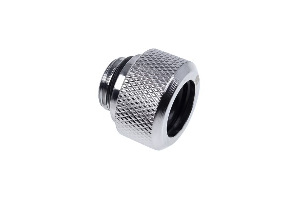 Alphacool Eiszapfen 13mm HardTube compression fitting G1/4 - knurled - chrome
