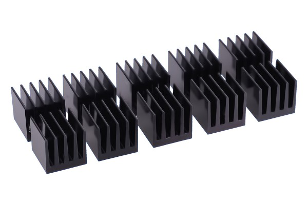 Alphacool GPU Ram Alu Heatsinks 15x15mm - black 10 pcs