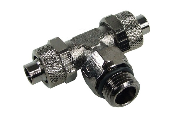 11/8mm (8x1,5mm) compression fitting G1/4 T revolvable - black nickel