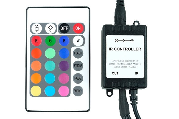 Phobya LED-Flexlight RGB controller with IR-Remote controller