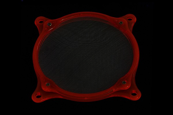air filter Mesh 120mm frame UV-red