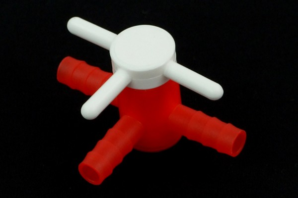 3-way valve, PE for 8mm ID
