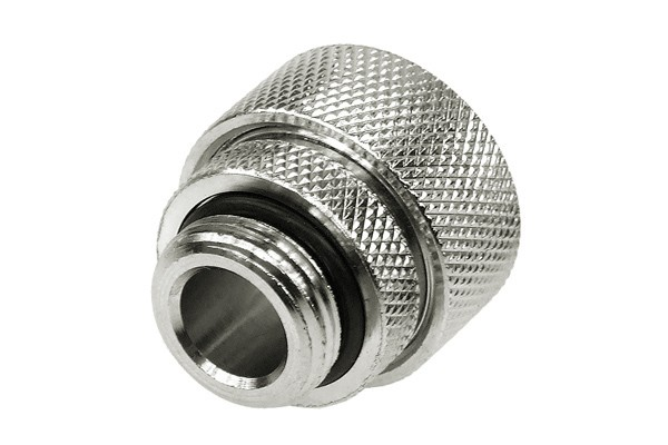 """19/13mm compression fitting straight G3/8"""" silver nickel plated"""