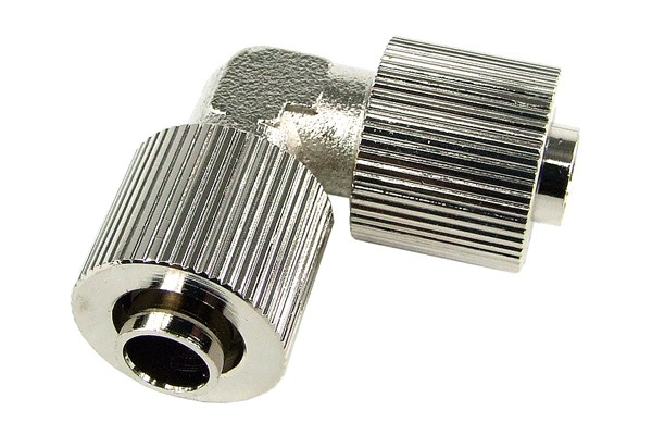 10/8mm L hose connector - compact - silver nickel