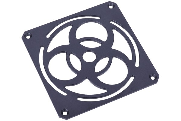 Phobya fan grill 120mm Biohazard - Massive - 4mm Alu black