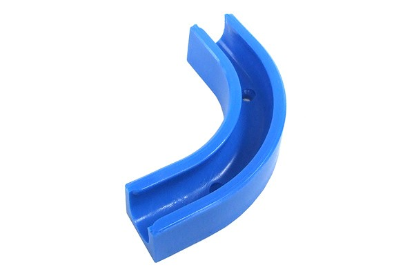 Angled clip 90° for 10/8mm tubing- blue