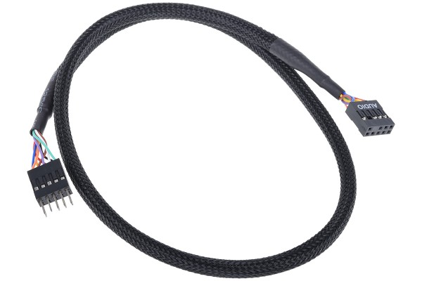 Phobya HD Audio extension cable femaile/male 60cm - black