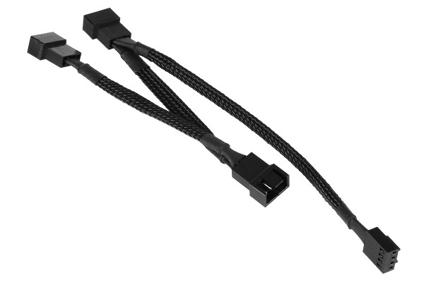 Phobya 4Pin PWM to 3x 4Pin PWM extension 40cm - black