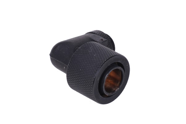16/13mm compression fitting 90° revolvable G1/4 - knurled - matte black