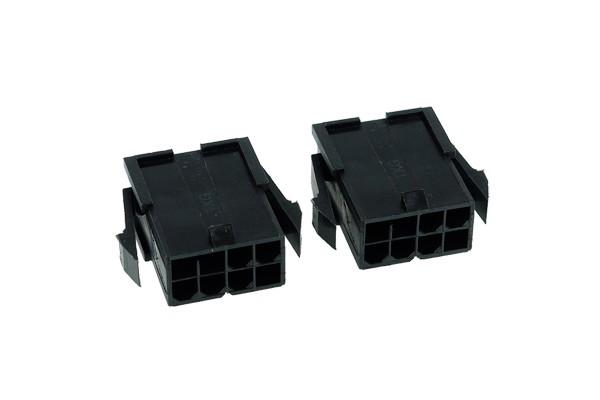 Phobya VGA Power Connector 8Pin female incl. 8 Pins - 2 pcs black