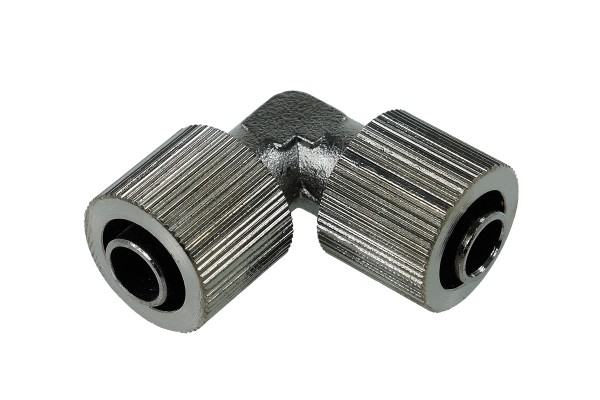 11/8mm L hose connector - compact - black nickel