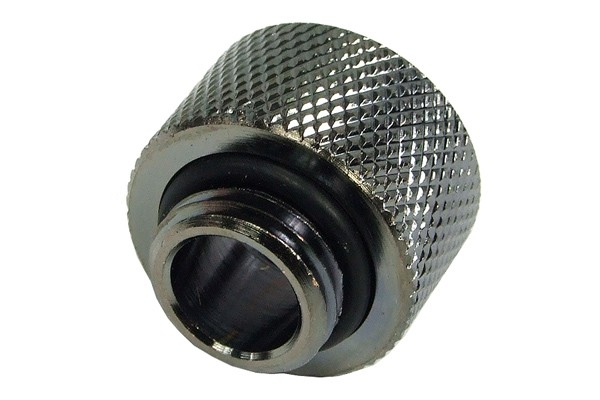 Reducing nipple G1/4 outer thread to G3/8 inner thread – knurled - black nickel