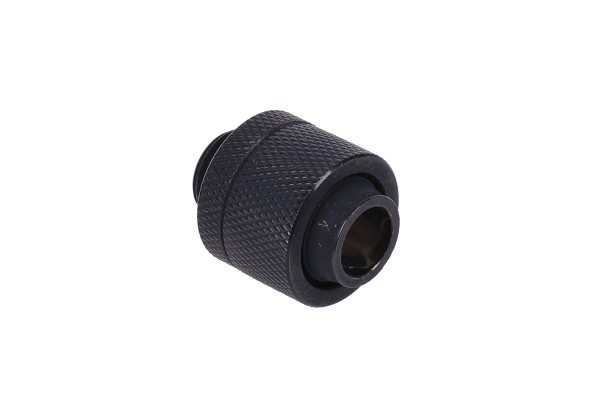 16/13mm compression fitting G1/4 - knurled - matte black