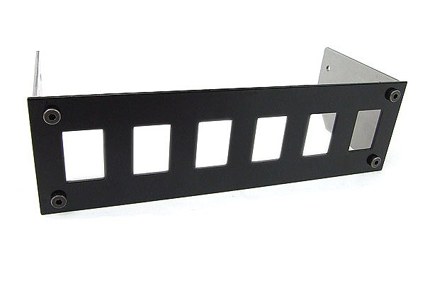 Phobya Front plate for 6x rocking switches rectangular – black