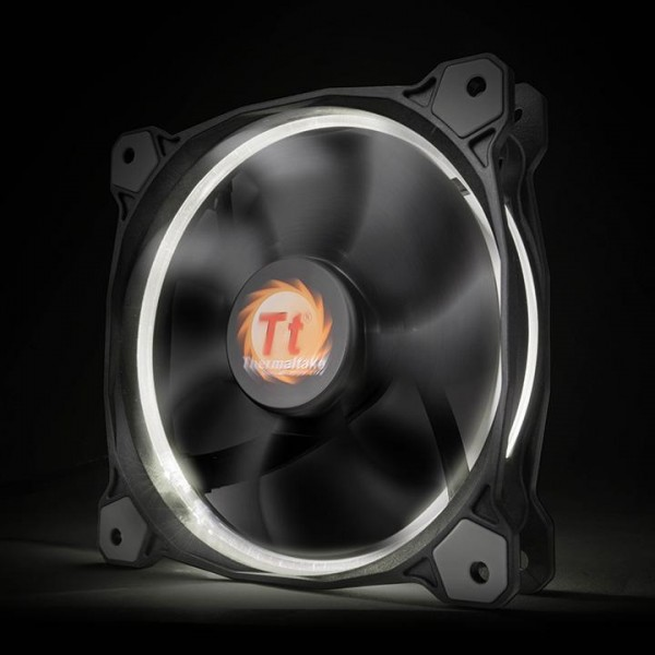 Thermaltake Riing 14 LED white, casefan - (120x120x25mm)