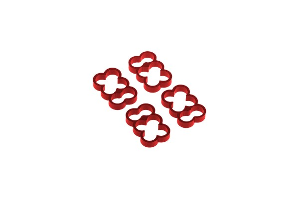 Alphacool Eiskamm Alu X6 - 4mm red - 4 pcs
