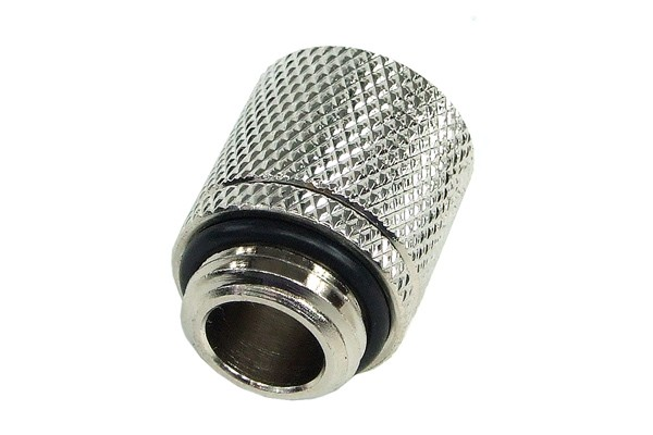 11/8mm (8x1,5mm) compression fitting outer thread 1/4 - knurled silver