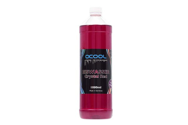 Alphacool Eiswasser Crystal Red UV-active premixed coolant 1000ml
